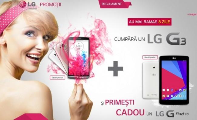 Покупателям LG G3  планшет LG G Pad 7.0 в подарок