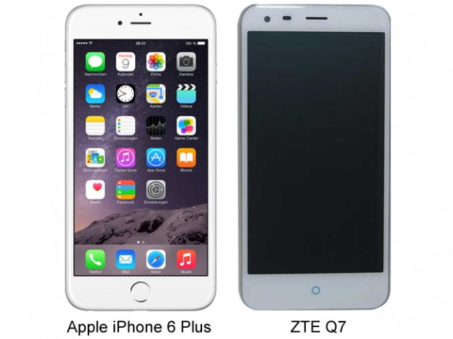 ZTE Q7:  Клон Apple iPhone 6 Plus из Китая