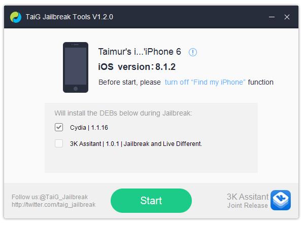 джейлбрейк для iOS 8.1.2