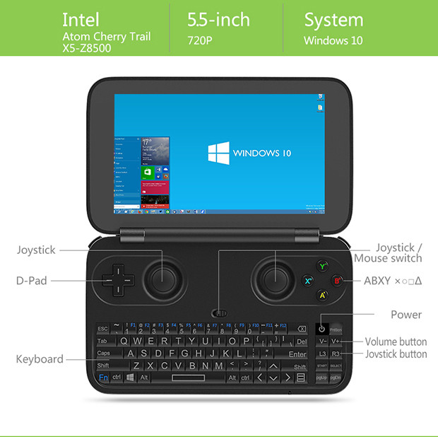 GPD Win Intel Z8550